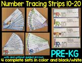Number Tracing Strips 10-20 (PRE-KG or PRESCHOOL)