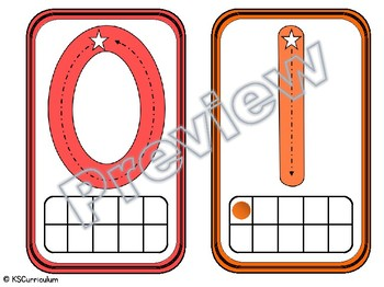 Number Tracing & Tens Frame Cards 0-10