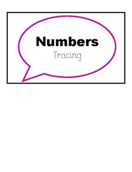 Number Tracing Work Task Box