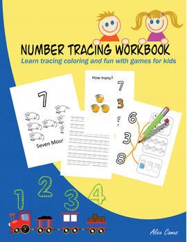 Number Tracing Workbook - Free version