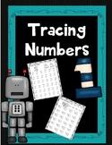 Number Tracing Worksheet 1-50
