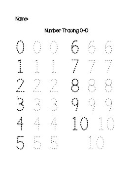 Number Tracing Worksheet Pack