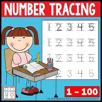 Number Tracing Worksheets by Catherine S | Teachers Pay Teachers