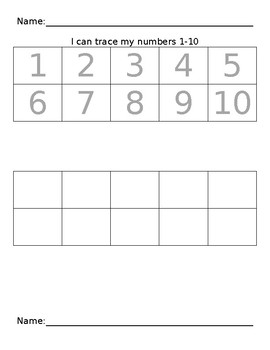 Number Tracing & Writing Pages 1 - 120