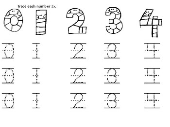Number Tracing and Matching 1-10