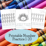 Number Tracing and Practice - Numbers 1 to 20