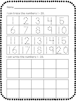 number tracing and writing freebie by kindergarten planet tpt. Black Bedroom Furniture Sets. Home Design Ideas