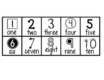Number Track 1-10