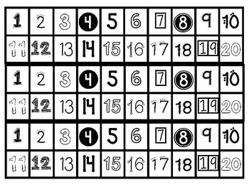 Number Track 1-20