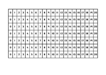 Number Track Zero to Twenty (0-20)