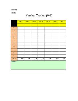Number Tracker 0-100