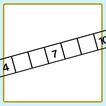 Number Tracks 0 - 10 with Missing Numbers Template Clip Art Set Commercial Use
