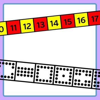 Number Tracks to Twenty Template Clip Art Set Commercial Use