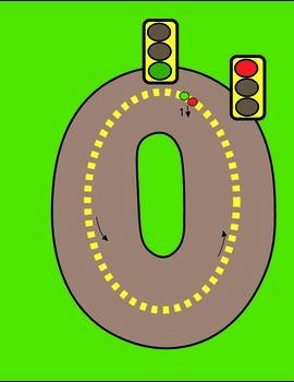 Number Traffic Outlines