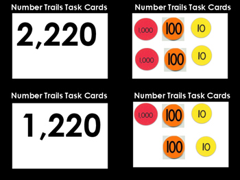 Number Trails Task Cards (10 Numbers)