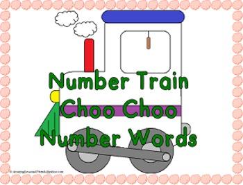 Number Train Choo Choo Number Words