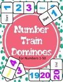 Number Train Dominoes (1-50)