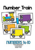 Math Game: Number Train - Math Center for Early Numbers & Counting