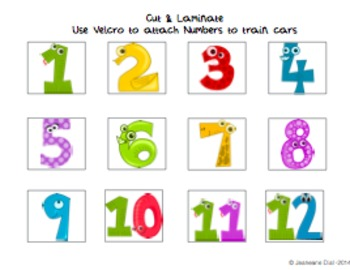 Number Train Sequence Activity Autism Workbox/ Task box/Folder