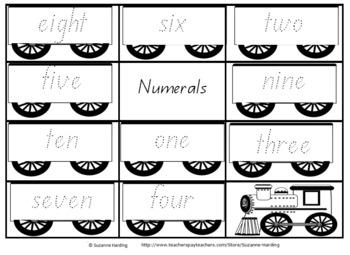 Number Trains 1-10 Queensland Font