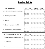 Number Tricks Interactive Notebook Insert and Slides