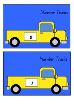 Number Trucks Counting Cards