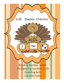 Number Turkeys (Practicing with Numbers 1-10)