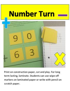 Number Turn Math Game