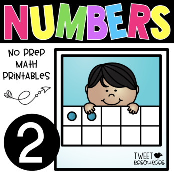 All About the NUMBER TWO ~ NO PREP Number Sense Kindergarten Math Printables