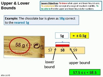 Number: Upper and Lower Bounds  1 - Single Amounts (+ worksheet)