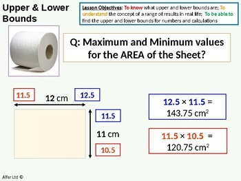 Number: Upper and Lower Bounds 2 - Area and Problems  (+ resources