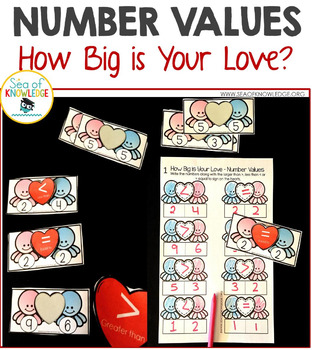Number Values Comparing Numbers Valentine's Day