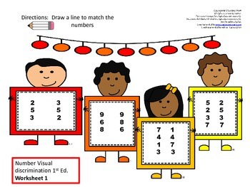 Dyslexia Intervention: Number Visual Discrimination Center