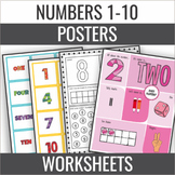 Number of the Day Posters 1-10 Number Cards