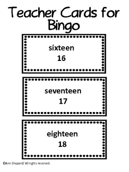 Number Vocabulary Fun with teen words and tens