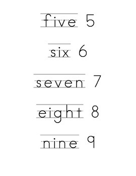 Number Vocabulary Words