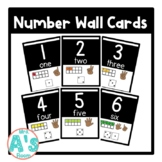 Number Wall Card Posters (Black Block)