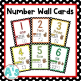 Number Wall Card Posters (Black Dots)