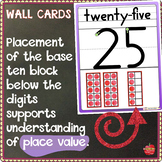 Number Wall Card Posters, Number Name, Place Value, Line, & 10 Frames: 0-31