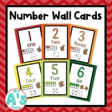 Number Wall Card Posters (Rainbow Chevron)