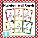 Number Wall Card Posters (Rainbow Dots)