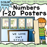 HWT Number Wall Cards 1-20 Handwriting Without Tears