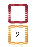Number Wall Cards from 1 to 194 With Polka Dot Borders