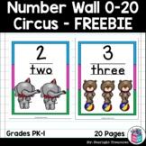 Number Wall - Circus FREEBIE: 0-20