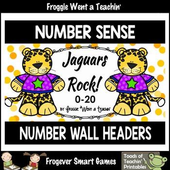 "Number Wall Posters/Headers--Number Sense ""Jaguars Rock"""