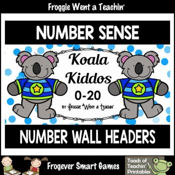 "Number Wall Posters/Headers-- Number Sense ""Koala Kiddos"""