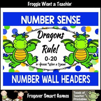 """Number Wall Posters/Headers--Number Sense """"Dragons Rule"""""""