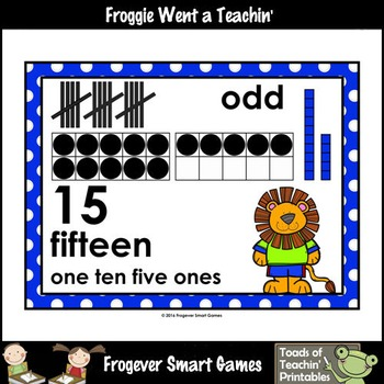 "Number Wall Posters/Headers--Number Sense ""Lion Pals"""
