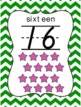Number Wall Posters 1-20