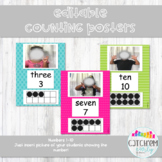 Number Wall Posters Editable For Real Pictures (Bright Col